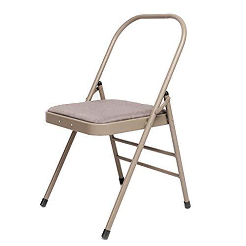 Training Yoga-Stuhl Iyengar Yoga-Stuhl Hilfsstuhl Bold Yoga-Stuhlhocker Haushaltshilfen Fitnessstuhl Umgekehrter Stuhl Klappstuhl Damengeschenk Fitness (Color : Khaki, Size : 46 * 47 * 80cm)