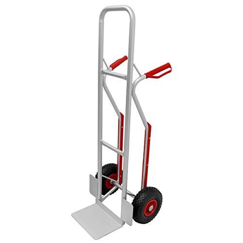 ECD Germany Carretilla de mano plegable subir escaleras de hasta 200 kg - marco de aluminio estable - neumáticos de goma - manijas de seguridad de plástico PU - carro de transporte portátil industrial