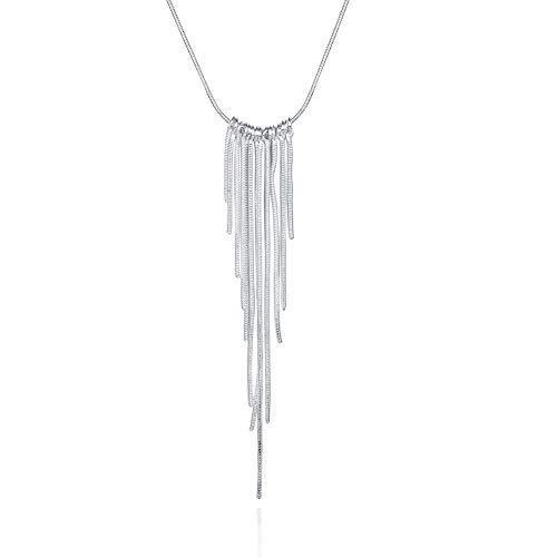 TTbaoz Collar Collares Colgantes Blancos Unisex con Borlas para Hombres Y Mujeres, Collar De Cuerda De Cadena Simple, Joyería De Aniversario, Recomendar