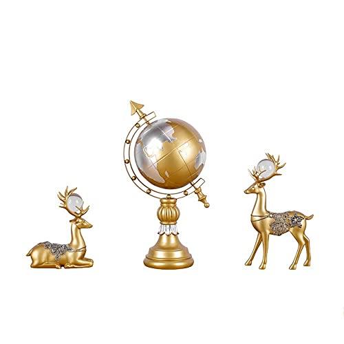 FGVBC SHQ Decoraciones para gabinetes de Resina de Vino Imitación Estilo Ciervo Muebles para el hogar Elegante Estilo Minimalista Semi-artesanías (Color: Gold)