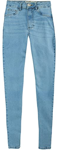 Calça Skinny Jeans Cintura Alta Malwee, Azul Claro, Feminino, 40