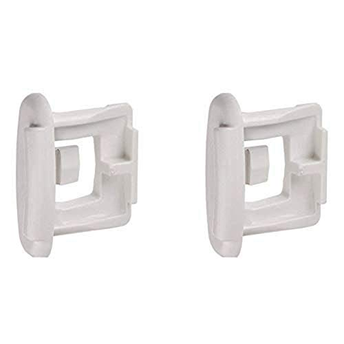 Price comparison product image 4yourhome (2PK) Generic,  Compatible / Replacement for GE,  Hotpoint Dishwasher Upper Rack Slide End Cap Replacement. Equivalent To Part WD12X10304