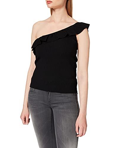 Morgan Debardeur ASYMETRIQUE 211-MDIDI Camiseta, Negro, M para Mujer