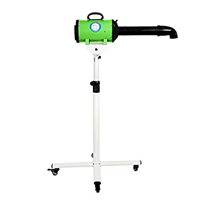 Flying Pig High Velocity Dog Pet Stand Grooming Dryer w/Variable Air Speed & Heat (Green)