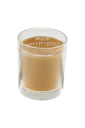 Candele Antifumo 55120_San Candele, Cera e Bicchierino in Vetro, Giallo, Taglia Unica