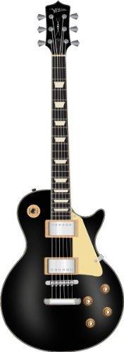 Guitare Electrique Noire Type Les Paul Avec 2 Humbucker ~ Neuve & Garantie