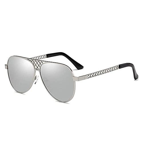 wangpu Gafas de sol de estilo polarizadas para hombre, gafas de sol clásicas de moda, espejo de sapo, para conducir, conducir y pescar en la playa (color: azul, tamaño: talla única)