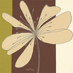 Eurographics Canvas Art - Cuadro, diseño Taupe Flower Burst, 20 x 20 cm