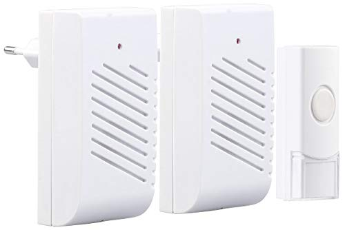 CASAcontrol Haustürklingel Ton: 2 Steckdosen-Türklingeln, 1 Funk-Klingeltaster, 16 Klingeltöne, 30 m (Türklingel Ton)