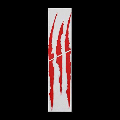 YANJIUCHA Pegatinas para Coche de 37 cm * 9 cm arañazos creativos, Impermeable y Duradero, Negro, Rojo, Verde y Azul 2 Piezas