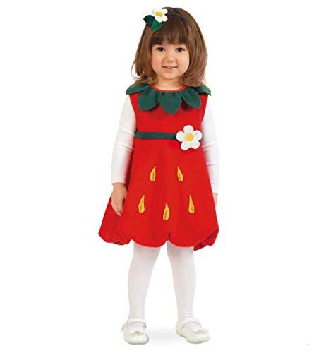 KarnevalsTeufel Erdbeer-Kostüm für Kinder Kleid mit Haarreif (104)
