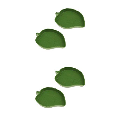 Homyl 4 Stück Reptilien Futterschale Futternapf für Schildkröte Eidechse Gecko
