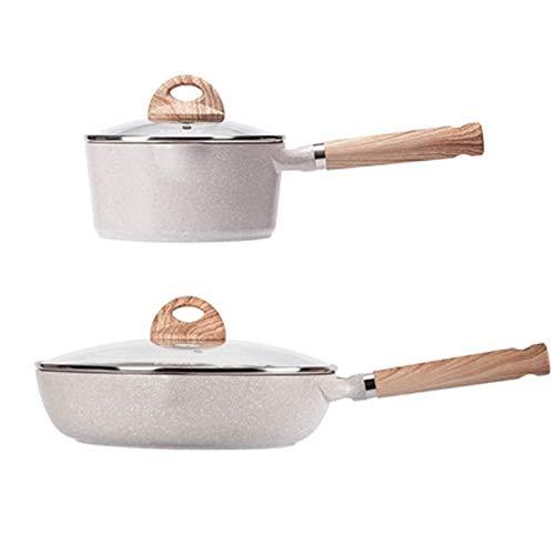 Batería de Cocina Antiadherente Juego de utensilios de cocina No Stick Pan Pan Pan Wok Milk Pot Pot Inminuction Pot Hotpot Cocina Cocinar Pot Set Saco Sopa Pot