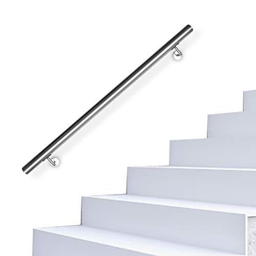 Hengda Pasamanos escalera acero inox,180cm,barandilla con kit de instalación,para Exteriores Ático Barandas para Ancianos y niños