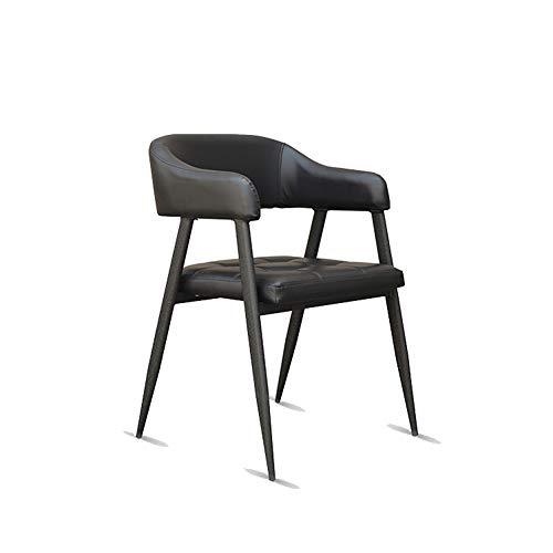 Silla de comedor de estilo industrial, restaurante de café restaurante occidental retro silla de ocio diseñador de personalidad creativa silla de hierro forjado
