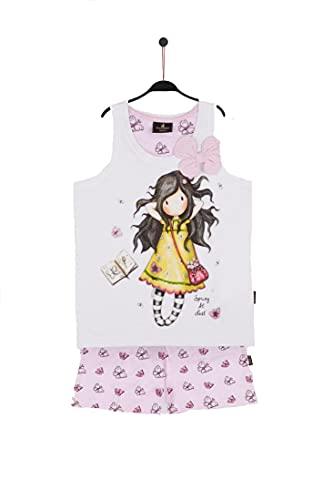 Santoro Gorjuss Pijama de 2 piezas, camiseta de tirantes + pantalón de algodón para...
