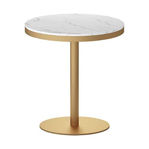 YLMF Marmor-Stehtisch, runder Empfangstisch, Besprechungstisch mit glatten Kanten, Hochtemperatur-Backfarbe, für Büros, Cafés, Rezeption, Größe 50 x 50 x 75 cm