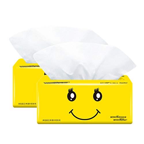 Btruely Papiertücher Baby Papiertücher Haushalt Toilettenpapier Servietten Praktische Haushaltsbedarf Toilettenpapier Familienpaket Hygiene Haushalts Serviette Superweiche,2 Packungen