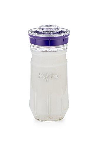 Kefirko–Set idéal pour faire un kéfir de lait ou d'eau à la maison (1,4 l) violet