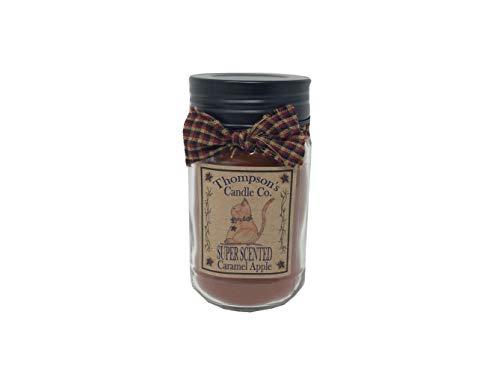 Thompson's Candle Co. 12 OZ Mason Jar Candles - Caramel Apple