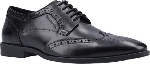 Hush Puppies Brace Brogue, Zapatos para Uniformes de Escuela Hombre, Negro, 45.5 EU