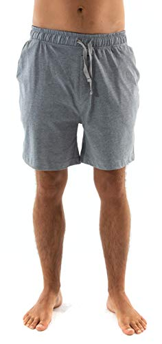 El Búho Nocturno Pantalón de Pijama Corto Suelto de Hombre de Liso Ropa de Dormir para Hombre Punto Grueso de algodón Talla M Gris