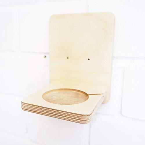 Wandhalterung für Toniebox, Aufbewahrung für Musikbox, Regal Ablage für Tonie Box aus Holz