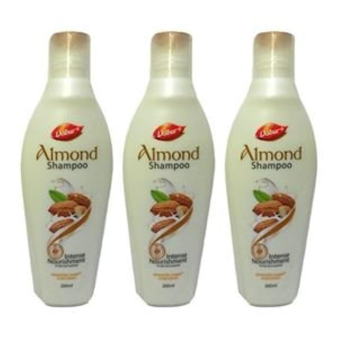 ポータル入手します存在3 X Dabur Intense Nourishment Almond Shampoo Nourishes rough hair and reduce3 X Dabur強烈な栄養アーモンドシャンプーはラフ髪を栄養ともつれに100ミリリットルX 3 = 300ミリリットルを低減します