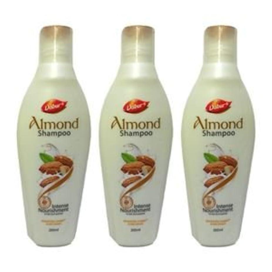 スチュアート島広げる後3 X Dabur Intense Nourishment Almond Shampoo Nourishes rough hair and reduce3 X Dabur強烈な栄養アーモンドシャンプーはラフ髪を栄養ともつれに100ミリリットルX 3 = 300ミリリットルを低減します