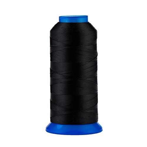 Selric [1500Yards / 30 Colors Available] UV Resistant High Strength Polyester Thread #69 T70 Size 210D/3 for Upholstery, Outdoor Market, Drapery, Beading, Purses, Leather (Black)