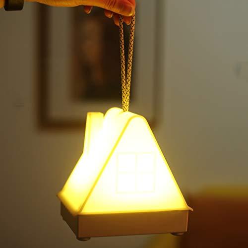 Veilleuses Lampe De Nuit LED Créative, Télécommande De Charge USB De La Chambre À Coucher Au Chevet De La Chambre À Coucher Pouvant Être Une Lampe Portative Chronométrée (Jaune Chaud)