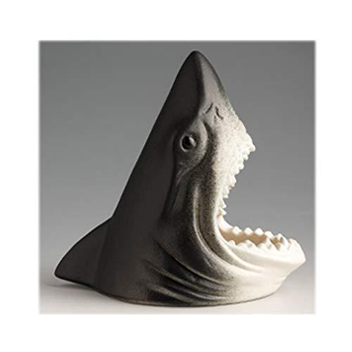 Cenicero para Exterior e Interior Realista tiburón en forma de cenicero, creativo personalizado Animal Cenicero, cerámica, titular Cirarettes Ash, Decoración, Regalo divertido para Hogar Oficina, Apar