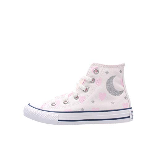 Converse Ctas Hi Ps - Zapatillas rosas para niña 671094C Color blanco. 37.5 EU