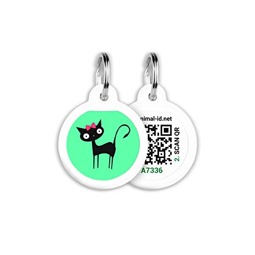ROVERTAGS Tags for Dogs - Small Dog Tag & Cat Tag - Pet Id Tag - Scannable QR Code Pet Tags for Location - Cat Id Tag & Dog Id Tag with Online Profile - Funny Dog Tags - Tags for Your Pets