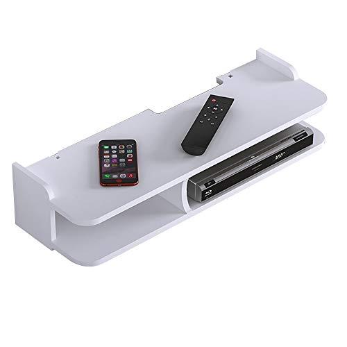 ZhaoXH-Wandregale Schwimmdock TV-Ständer Regale Holz Multimedia-Speicher Regal Offenes Regal Tier 2 für Kabelbox/Router/Remotes/DVD - 23.62x7.87x5.12inch
