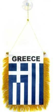 AZ FLAG Wimpel GRIECHENLAND 15x10cm - GRIECHISCHE Mini Flagge 10 x 15 cm - Auto Pennant spezielle Auto