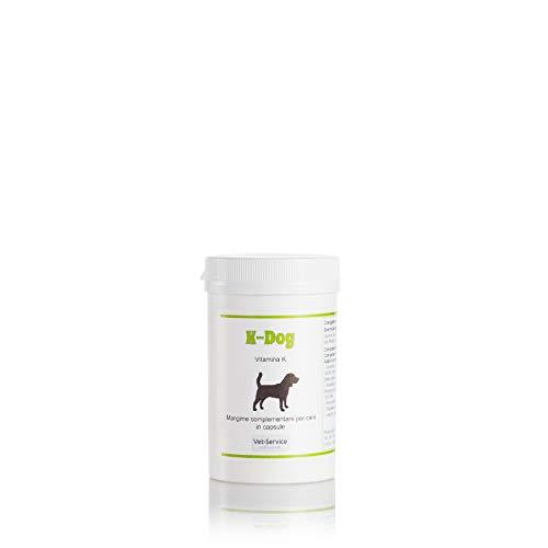 Vet-Service K-Dog, conf. 60 CPS - Vitamina K, Difesa Contro Il Veleno per Topi - Mangime complementare (Integratore) per Cani