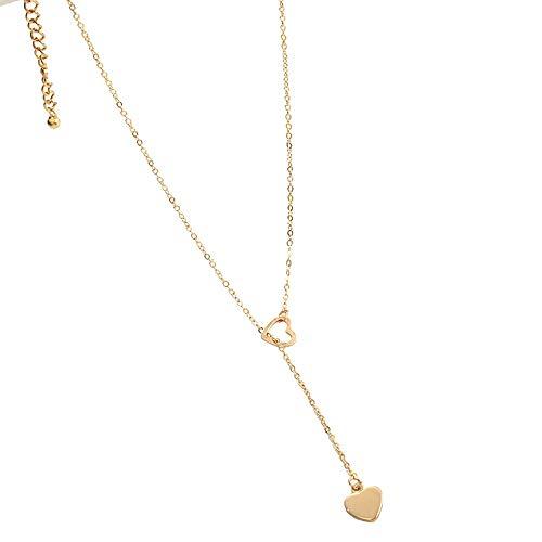 Collar Moda Joyería De Moda Corazón De Cobre Collar De Eslabones De Cadena Regalo Para Mujer Niña