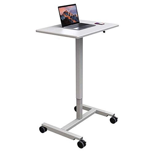 CENPEN Lectern Standing Mobile Cart Mobile Office Conference Lecture Table Bedside Table for Classroom Meeting Room (Color : WHITE, Size