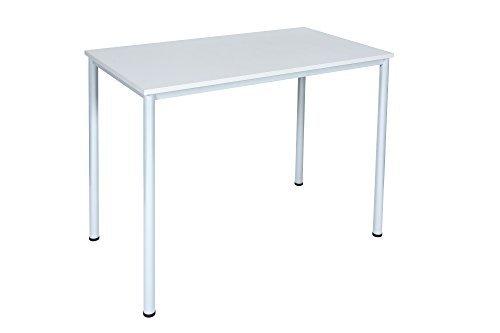 Dila GmbH Stehtisch Besprechungstisch Mehrzwecktisch Universaltisch Tisch Bistrotisch Stehpult Pausentisch   Höhe: 112,5 cm   6 Größen   6 Farben   Metallgestell (Weiß, 120 x 60 cm)