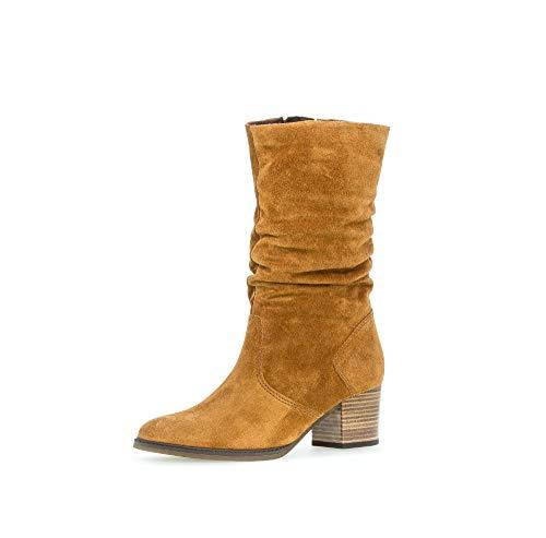 Gabor Damen Stiefel,Comfort-Mehrweite,Reißverschluss, Women Woman Boots Stiefel Winterstiefel Winterschuhe langstiefel,Camel (Micro),40 EU / 6.5 UK