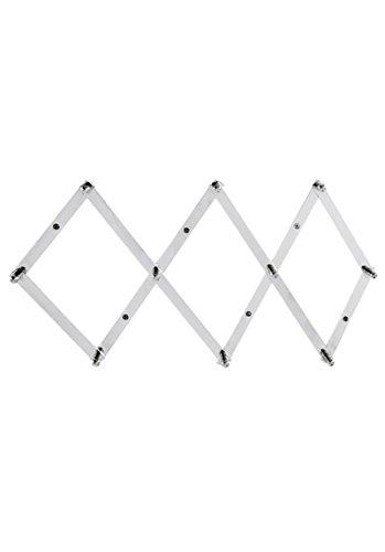 Heine Home Wandhaken Garderobe individuell stufenlos ausziehbar Metall Wandgarderobe Scheren-Garderobe Chrome