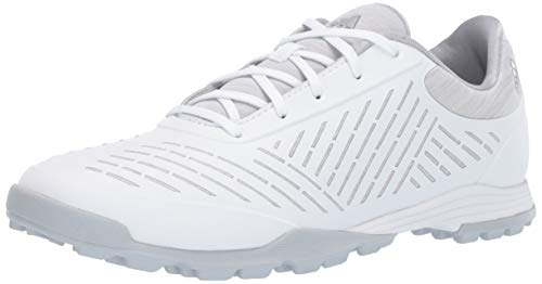 adidas womens Adipure Sport 2 Golf Shoe, Ftwr White/Clear Onix/Silver Metallic, 7.5 US