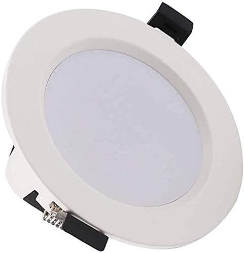 HZWDD Downlight Panel Light Foco Empotrado Foco AC 85-265 V 7W RGB + W Techo LED Ligero Control por teléfono Inteligente Wi-Fi Smart Down Light Luz de Techo de Techo Plafón de Techo Plano