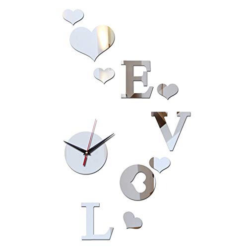 WANGY Modische Acryl Quarz Wanduhr Werbeartikel 3D Kristallspiegel Uhr
