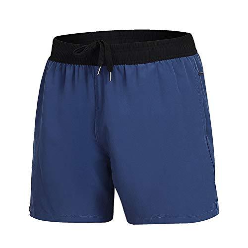 Pantalones De Playa De Verano De Color Liso para Hombre Shorts Casuales con Cremallera Pantalones De Natación Elásticos De Secado Rápido 4 Puntos Cortos