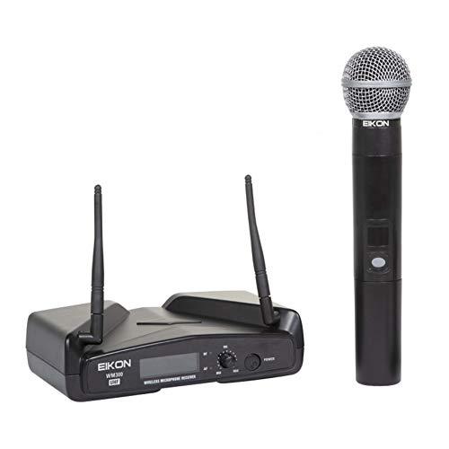 Proel EIKON WM300M UHF draadloze professionele draadloze microfoon met ontvanger + handzender met on/off-schakelaar, zwart