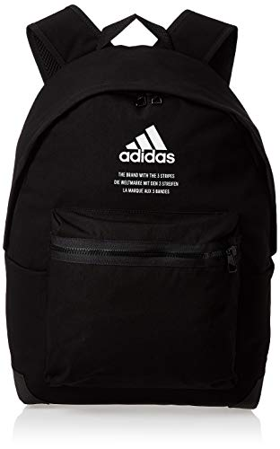 adidas Unisex Adults' CLAS BP FABRIC Sports Backpack, Black/White, NS