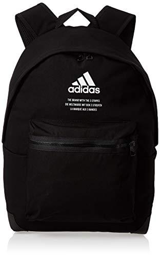 adidas Unisex Classic Twill Fabric Rucksack, Black/White, One Size