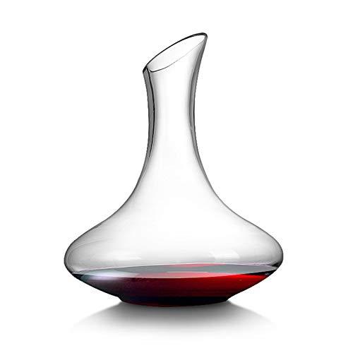 Licorera Casual Bisel De Vino Rojo Decantador 1500 Ml Dispensador De Vino Filtro De Vino Flagon Cristal Clear Base Wide Base Gratuito Hogar 20.5x24.5cm MUMUJIN